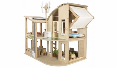 Plan Toys <br>Green Dollhouse <br>with Furniture