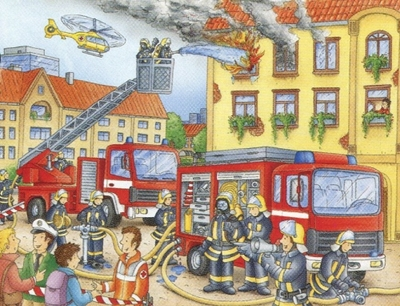 Ravensburger 100 Piece <br>Fire Department