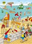 Ravensburger 2-sided <br>100 Piece Puzzle <br>At the Beach