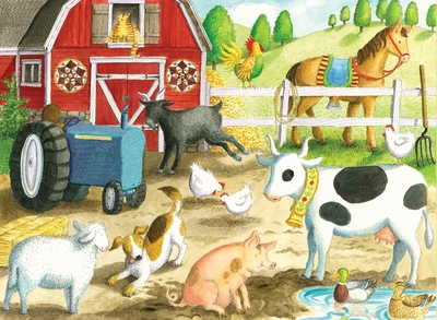 Ravensburger 35 Piece <br>Barnyard Friends