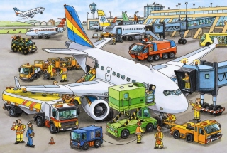 Ravensburger 35 Piece <br>Busy Airport