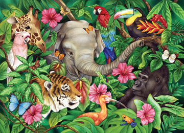Ravensburger 60 Piece <br>Tropical Friends