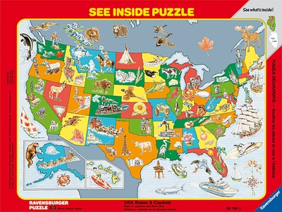 Ravensburger <br>Frame Puzzle <br>USA States & Capitals