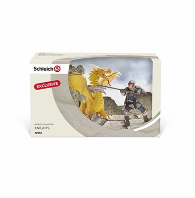 Schleich Fantasy <br>Limited Edition <br>Knight with Yellow Dragon