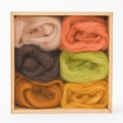 Wool Pets <br>Wool Roving <br>Earth Tones