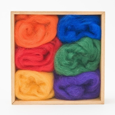 Wool Pets <br>Wool Roving <br>Rainbow Colors