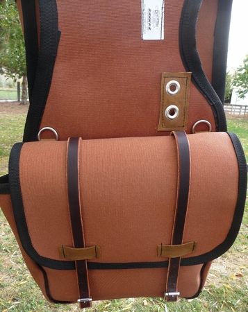 Large Bear Cloth Saddle Bag