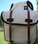 Large Canvas Saddle Bag