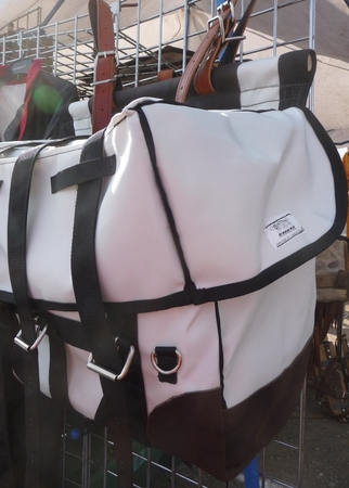 White Bear Cloth Pack Panniers 17 oz. - with leather ends