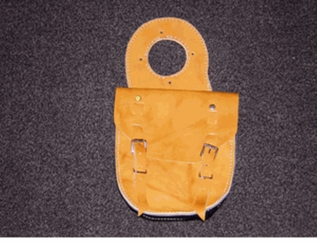 Single-Pouch Leather Horn Bag