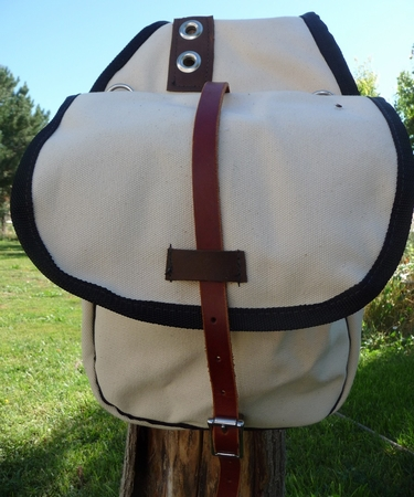Small Canvas Saddle Bag