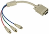 1080p VGA to 3 Male RCA Component Video Breakout Cable - NO COMPUTERS!