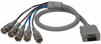 1080p VGA to 5 BNC Component Video Breakout Cable