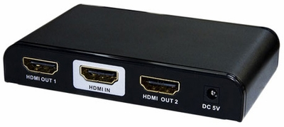 1x2 HDMI Splitter with EDID & Built-in Booster - 2D&3D