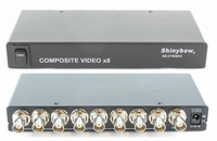 Shinybow SB-3706BNC 1x8 Composite Video (BNC) Distribution Amplifier - TAA Compliant