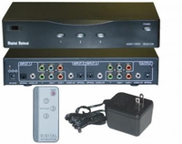 3X1 Component Video Switcher w/optical & stereo audio inputs