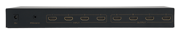 WolfPack 4-4 HDMI Matrix Router with RS232