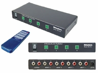 Shinybow SB-5440RL 4x1 Stereo Audio switcher w/Remote control