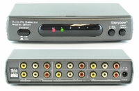 Shinybow SB-5420 4x2 AUTO Composite Video / Stereo Audio Switch