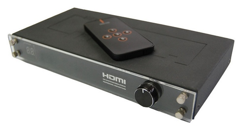 WolfPack 5x1 HDMI Switcher with Fast Knob Control