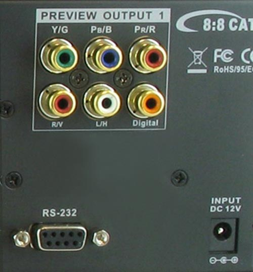 8x8 HDTV Component Video w/ Digital and Stereo Audio Matrix Routing Switch w/ CAT5 Output