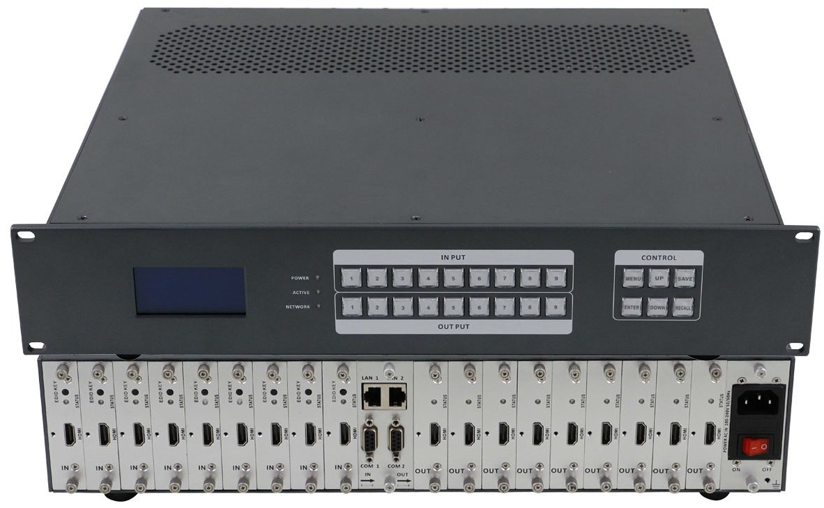 4K/60 9x9 HDMI Matrix Switcher Chassis - You Design It