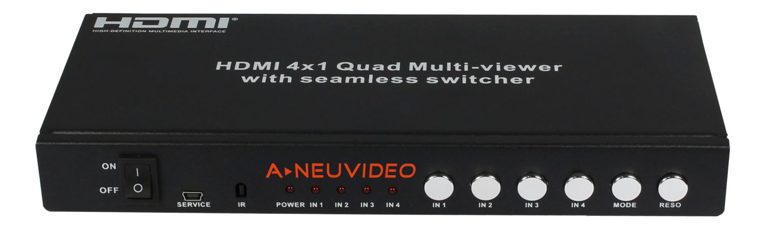 4x1 HDMI Quad Multi-viewer w/ Seamless Switcher