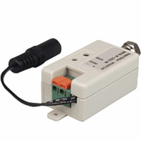 Active Video Balun, F male, monitor side