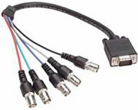 Adapter Cable - 2' (0.7m) - HD-15 Male to 3-BNC Female