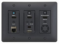 Aurora Multimedia IPX-TCW3-C-B 3 Gang IPBaseT HDMI WP Transceiver