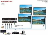 Avenview SPLIT-HDM2-T4K-4 1x4 HDMI TRUE 4K@60 Splitter