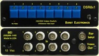 Burst Electronics DSR8X1R SDI 8x1 Reclocking Video Switcher with RS232
