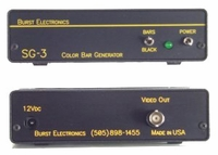 Burst Electronics SG-3/N SMPTE Video Color Bar & Black Burst Generator