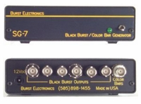 Burst Electronics SG-7 6 Black Burst Out 1 SMPTE Bars Out