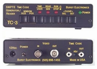 Burst Electronics TC-3 SMPTE Time Code Reader/Generator