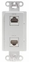 Channel Plus WPPCIY Coax Wallplate- 4 Phone & 2 knockouts for coax