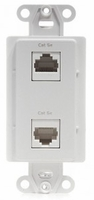 Channel Plus WPPCWE Phone/Coax Wallplate-4 Phone & 2 knockout for coax