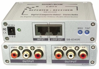 Shinybow SB-6345R Composite Video and Audio Repeater + Receiver