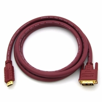 DVIGear DVI-2401-HR HDMI to DVI-D HR Copper Cable, 24AWG, 1 meter or 3.3 Feet