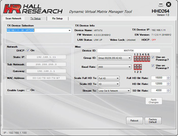 Hall Research HHD264-S HDMI Distribution & Switching over LAN (Sender)