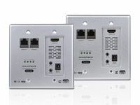 HDBaseT Wallplate Extender to 300 feet w/Remote IR