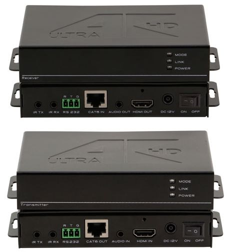 4K WolfPack HDMI Balun HDBaseT Over CAT5 with POE & Audio Deembedding to 330 feet
