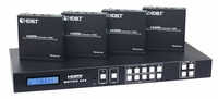 4K WolfPack 4X4X2 HDMI Matrix Switch w/HDBaseT CAT5, IR & Audio Outs