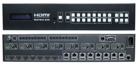 4K WolfPack 8x16 (8x8x2) HDMI Matrix Switcher via HDBaseT with Separate Audio