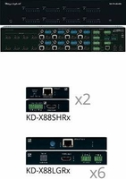Key Digital KD-Pro8x8D 8x8 4K HDBaseT/HDMI Matrix Switcher
