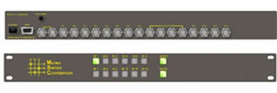 Matrix Switch 8x4 HD-SDI Video Only Router Dual Outputs & Front Panel Control