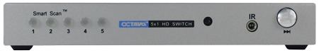 Octava HDS5 5 x 1 HDMI Switch - Full 4K