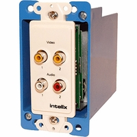 Intelix AVO-V2A2-WP-PAC-F Wall Plate Composite Dual Video CAT-5 Balun