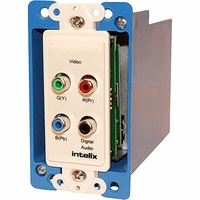 Intelix AVO-V3AD-WP-PAC-F WallPlate Digital Audio & Component Video CAT-5 Balun