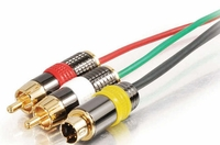 Plenum Composite or S-Video cable w/Audio Cables
